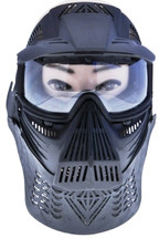 Pro BB gun Protection mask in black with screen visor