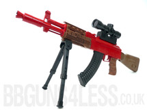 Replica AK47 M887-3 sniper bbgun with bi pod