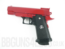 Galaxy G10 Full Metal BB Gun Pistol in red