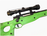 well mb01 green spring sniper rifle with scope