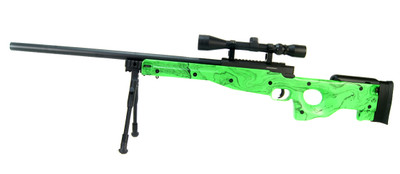 well mb01 green spring sniper rifle with scope & bipod in green
