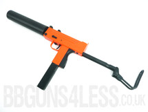 HFC HGA-203 ob gas powered BB gun with Retractable metal stock in orange