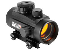 Swiss Arms Red Dot Sight, Metal, Black with Integral Weaver Rail