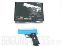Galaxy G10 Full Metal Pistol BBGun in blue