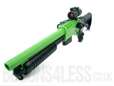 Double Eagle M47D2 Pump Action Shotgun in Green/Black