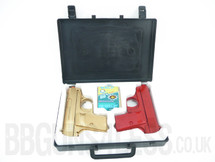 Double eagle p328b twin pack with BB gun pistol Case