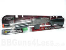 Mossberg 590 Full stock pump action BB shotgun in Clear/Black (in box)