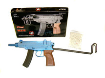 Double Eagle M37F VZ-61 Skorpion BB gun in blue