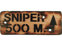 Wooden Sniper Sign Military Style Sign