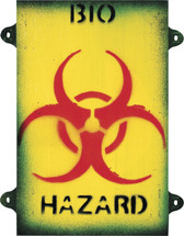 Bio hazard wooden Sign - Military Style Sign