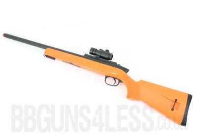 Double Eagle M50P BBGun Spring Sniper Rifle in Orange