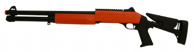 Double Eagle M56DL TRI-SHOT Pump Action Shotgun in Orange/Black