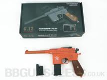 Galaxy G12 Broom Handle Mauser C96 Style pistol in Orange