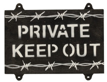 Private keep out Sign - Military Style Sign