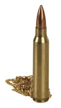 556 Brass bullet Chain Necklace