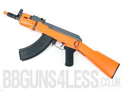 Double Eagle M901A Metal AK47 Electric Rifle with Full stock in Orange
