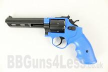 HFC HG133 Replica S and W Revolver gas BB Gun in blue