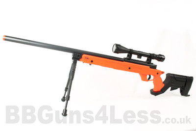 Well MB04 BB gun Sniper Rifle with Scope & Bipod in orange