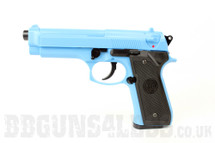 KWC M92 Spring Pistol in Blue