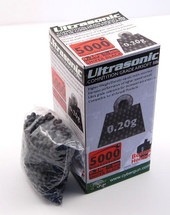 Ultrasonic bb pellets 5000 X 0.20g in black in a box