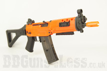 JG Works 552 BB Gun Electric Rifle with Folding Stock in Orange/Black