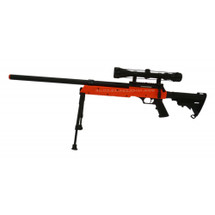 Well MB06 BB Gun Sniper Rifle with Scope & Bipod in orange/black