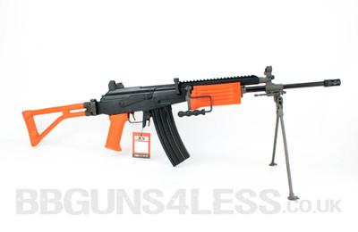 ICS-94 Electric BB gun with bipod in Orange/Black