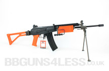 ICS-94 Electric BB gun with bipod in Orange/Black