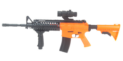 Well D96 M4 Carbine Fully Automatic With Adjustable Stock in orange