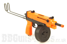 Well VZ61 Scorpion Sub Machine Gun (SMG) with Folding metal stock in Orange