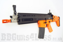 WE Scar R004 Gas BlowBack Airsoft Rifle with Adjustable Hop-Up in Orange