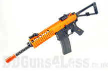 WE Tech PDW Gas BlowBack Airsoft Rifle in Orange