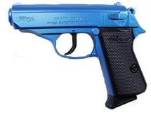 Tokyo Marui Walther PPK Semi Auto Spring bb pistol in blue