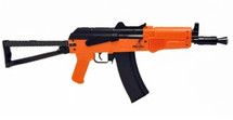 UHC AK74 SU Hybrid Dual System AEG BB gun Rifle in orange
