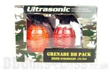 ultrasonic Twin grenade bb pack 1600 x 0.12 pellets