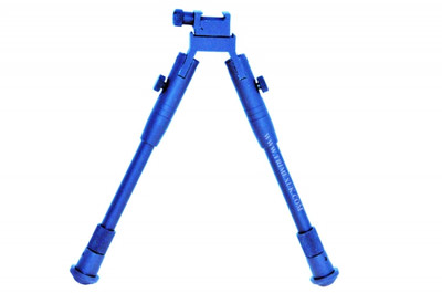 Double Eagle Universal Bipod Sniper stand in blue