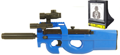 Well D90H Adjustable Hop-Up Electric Rifle inc Target in Blue