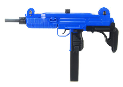 Well D91 UZI Replica Electric BB Gun with Folding Stock in Blue