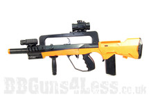 Double Eagle M46P Famas spring bb gun in orange
