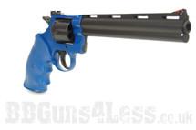 UHC Python Revolver spring powered 8 inch barrel Pistol in blue