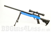 Well MB06 Airsoft Sniper Rifle with Scope & Bipod in Blue