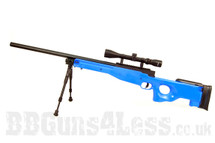 Well MB01 Sniper Rifle with bipod and scope in blue