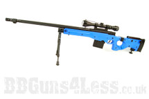 Well G96-D gas power Sniper rifle in blue with bipod and scope