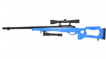 Well MB10 Sniper Rifle with bipod and scope in Blue