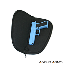Pistol Gun Slip Case In Black 12 Inch size