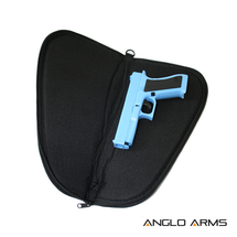 Pistol Gun Slip Case in Black 15 inch size