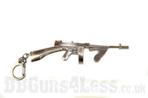 Thompson m1a1 drum mag Keyring in solid metal