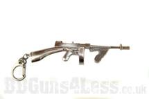 Tommy Gun m1a1 drum mag Keyring in solid metal