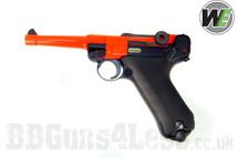 WE P08 Luger replica Gas Blowback Pistol BB gun