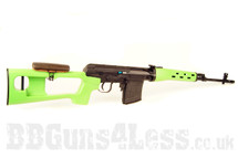 A&K Russian Two Tone Airsoft Sniper Rifle in Green